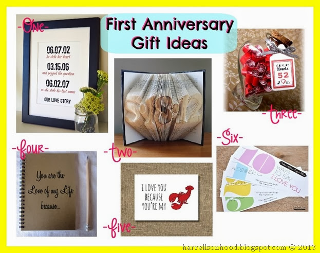 Traditional 6 Year Wedding Anniversary Gift Ideas : The Harrells on Hood: First Anniversary Gift Ideas [and my Etsy finds]