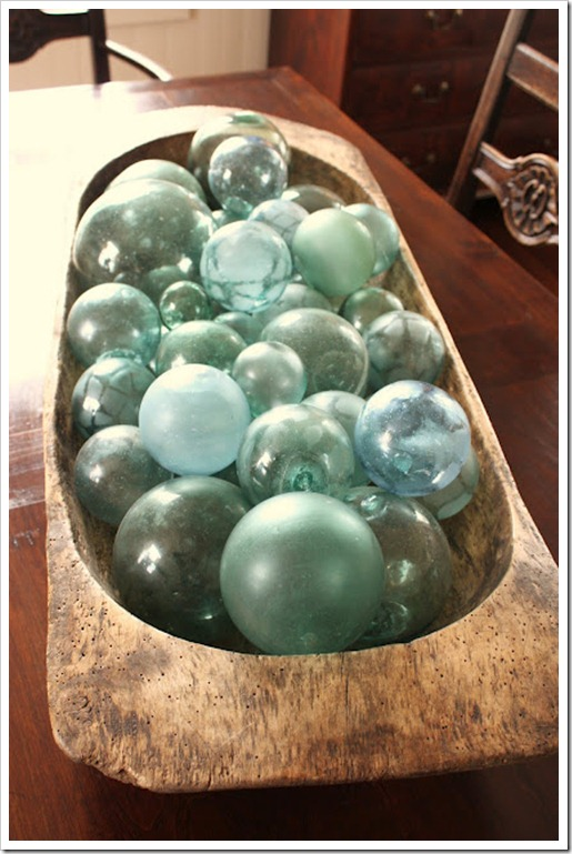 Glass Float filled dough bowl