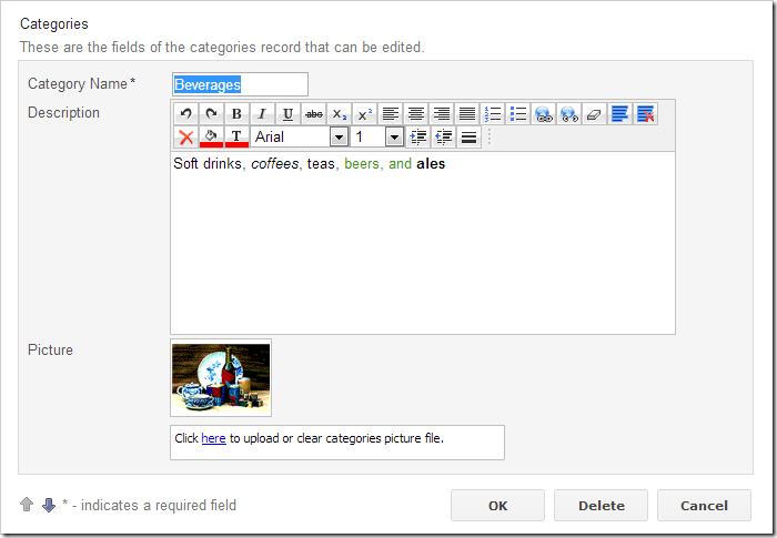 Default Ajax Control Toolkit rich text editor control.