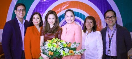 Toni-Gonzaga with ABS-CBN executives