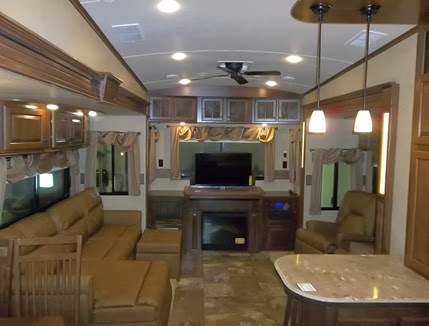 New Camper Living Area