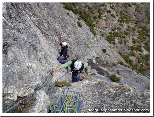Via Diedro Sajuma 190m 6b  (6a A0 Oblig) (Peña Solano, Escarrilla) (Victor) 0570