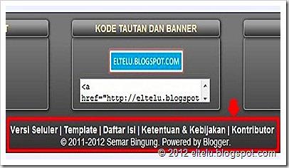ELTELU - Menu Horizontal Pada Footer Blog Versi Web