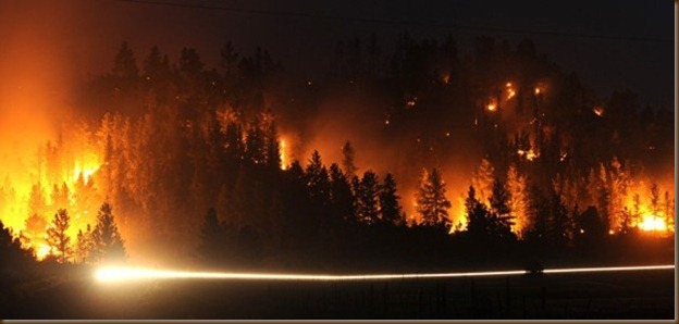 Roundup wildfire Larry Mayer photo