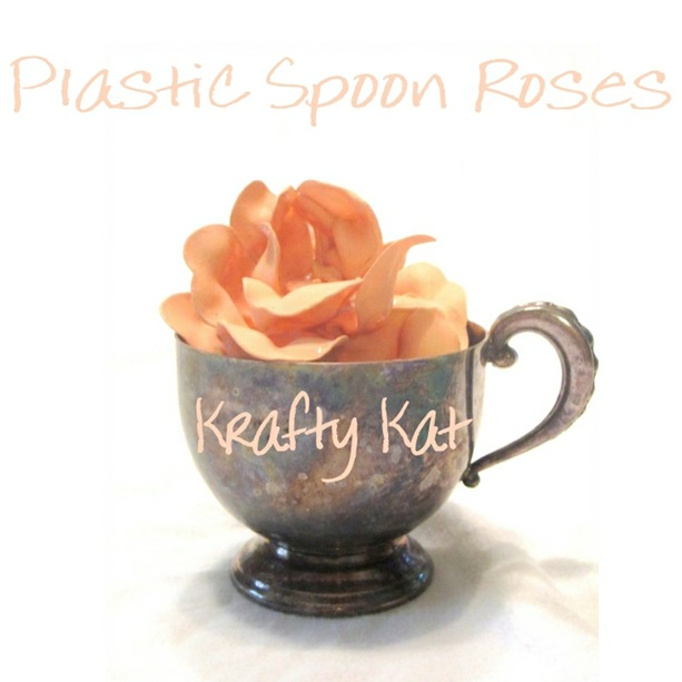 Plastic Spoon Rose In Cup