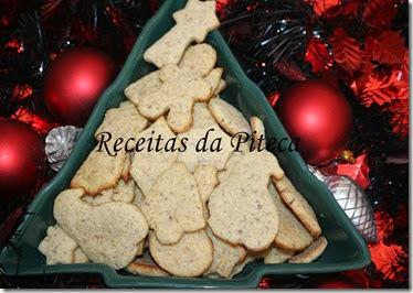 Bolachas de Natal de avelã-perto