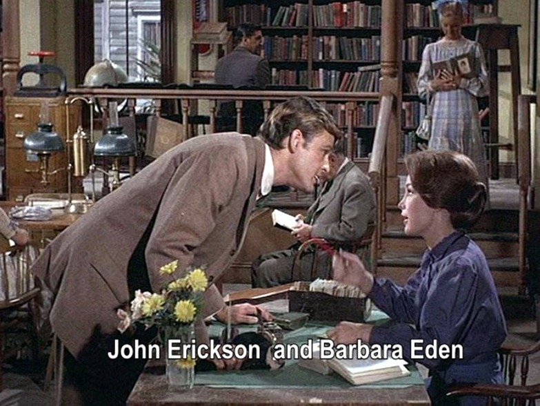 John Ericson and Barbara Eden