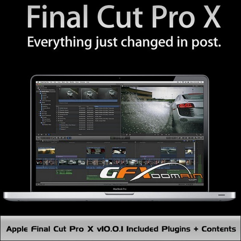 Apple Final Cut Pro X v10.0.1 & Plugins + Contents