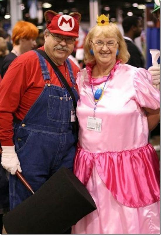 Mario e a Princesa na terceira idade