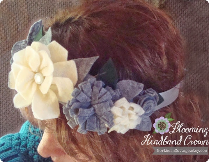 Blooming Headband Crown ♥ {NorthernCottage}
