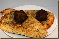 Naan bread and onion bahji