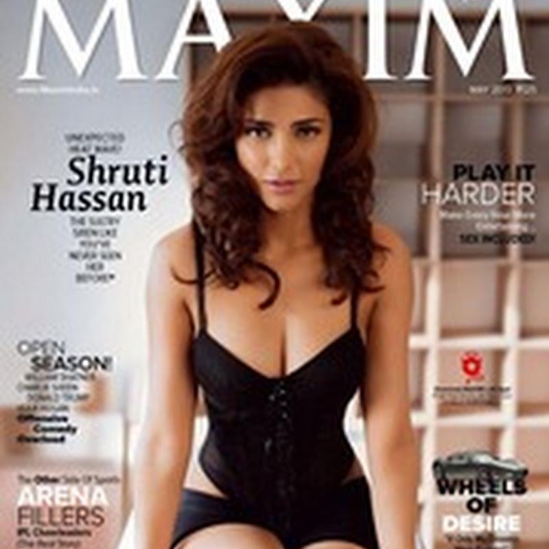 Shruthi Hassan Hot Photo Shoot For Maxim