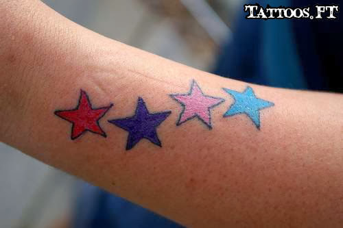 Star tattoos meanings and pictures tattoos ideas for Blue star tattoo