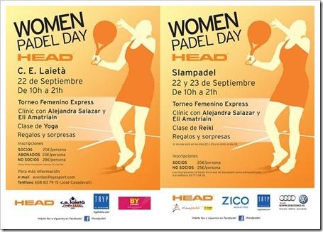 La firma HEAD promueve dos nuevas jornadas de sus PADEL WOMEN DAY en Barcelona.