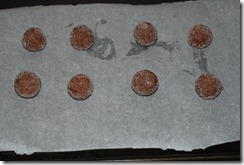 Prepared balls rolled in granulated sugar, before baking
