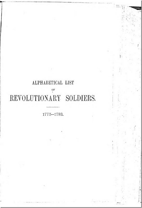 Pennsylvania Archives Series 2 Volume 13 Alphabetical List of Revolutionary War Soldiers 1775-1783 Page 1