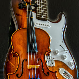 Violin & Guitar by Carol Plummer - Artistic Objects Musical Instruments ( vioin, artistic, musical instruments, guitar )
