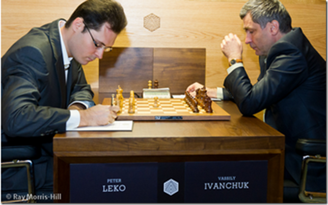 Peter Leko vs Ivanchuk Vassily, round 2 London GP 2012