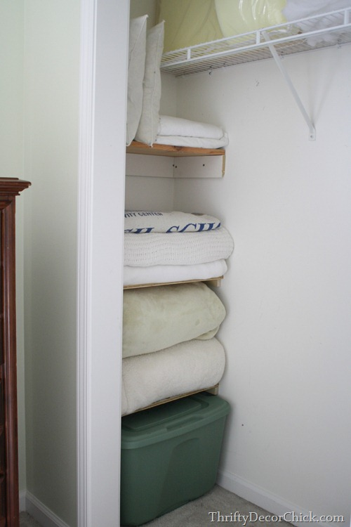 using extra space in closet
