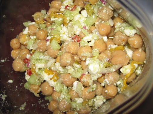 Michael Natkin's Chickpea Salad - made by Andrew Dornenburg.
