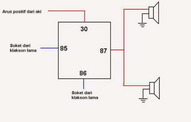 wiring diagram klakson wire center u2022 rh sischool co wiring diagram klakson sepeda motor Single Phase Motor Wiring Diagrams