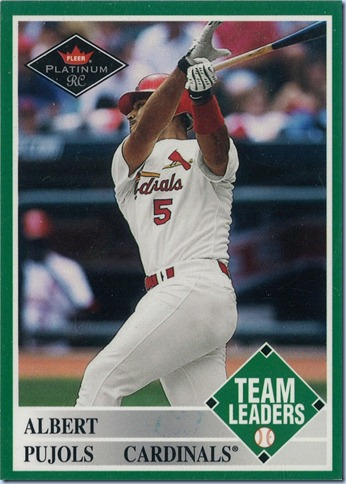 2001 Fleer Platinum Pujols Rookie 1