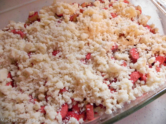 sprinkle streusel on top