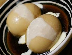 煮卵からしマヨネーズ