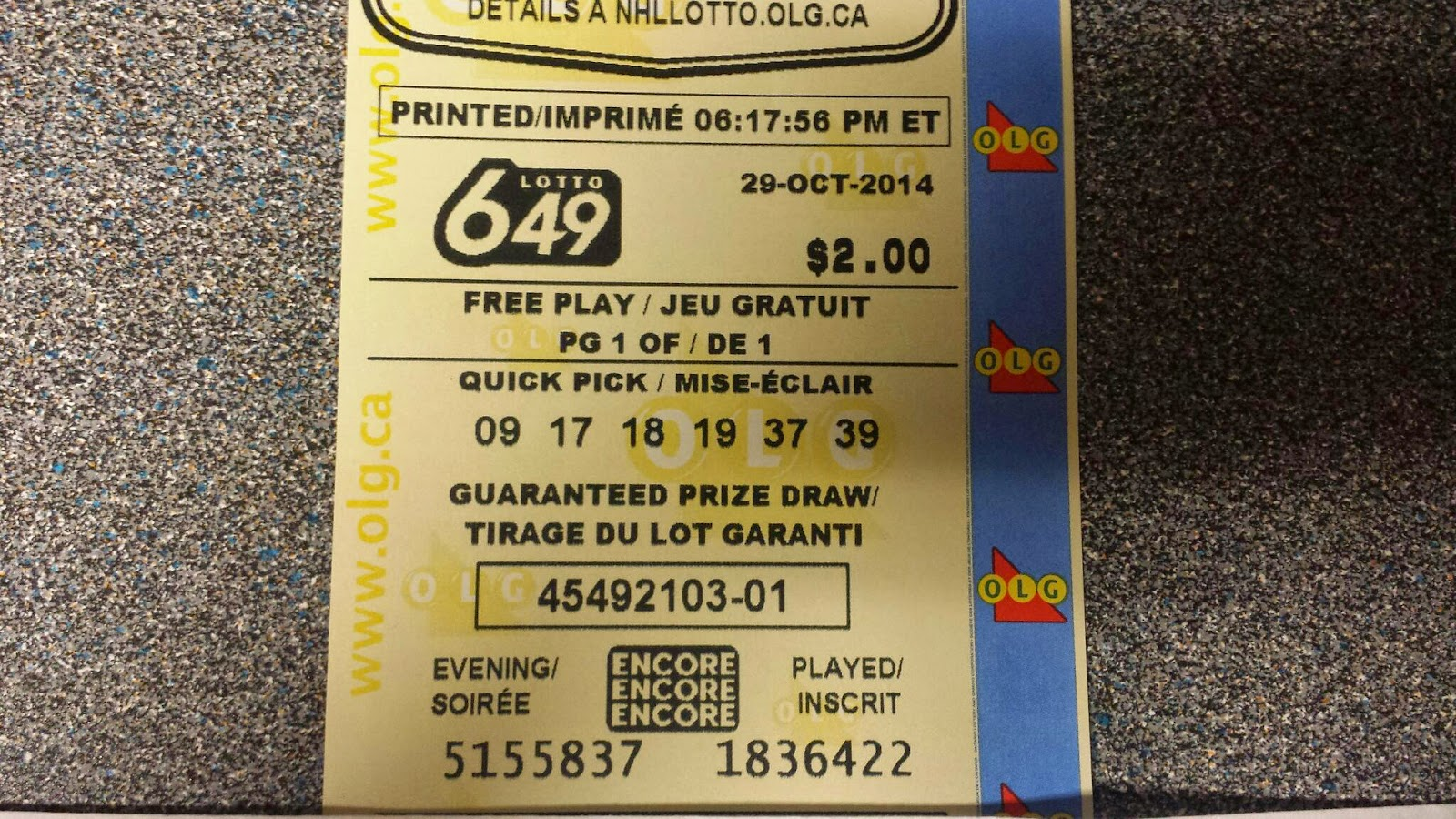 lottoa 649 guaranteed prize draw how to tell winner