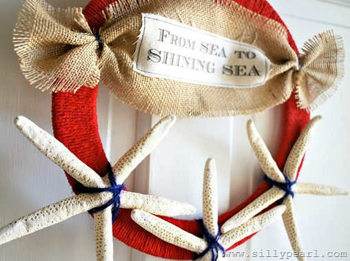 4th of July Starfish Wreath - From Sea to Shining Sea - by The Silly Pearl