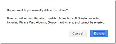 google plus picasa photos deletion warning