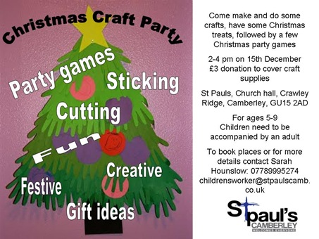 Christmas crafts at St Paul's Camberley