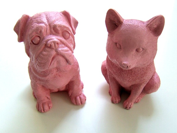 Pink painted animals
