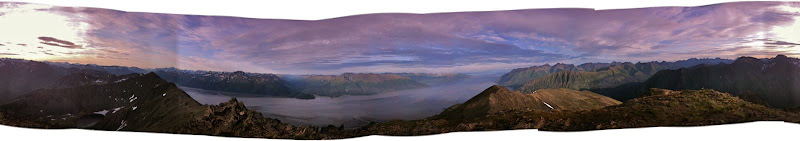 360 degrees from the top of Penguin Peak