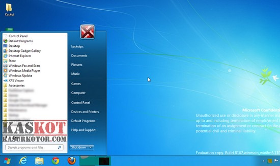Mengubah Start Menu Windows 8 menjadi Start Menu Windows 7