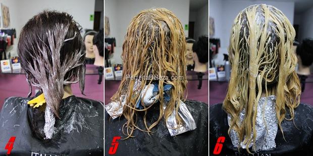 como fazer luzes em cabelos tingidos