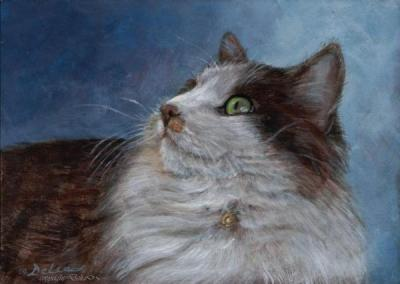 And here is Delia's rendering of the lovely Miss Kitty!