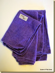 purple Dansk napkins