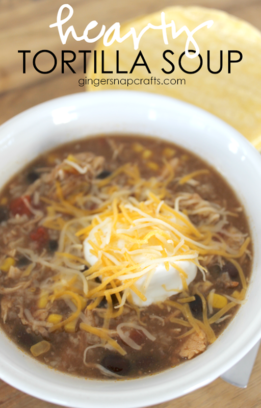 Hearty Tortilla Soup at GingerSnapCrafts.com
