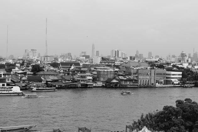 Chao Phraya River scene from Wat Arun