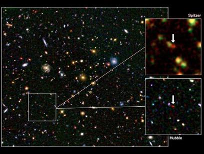 galáxia vigorosa no alvorecer cósmico
