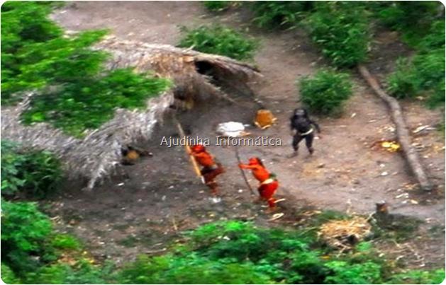 Imagens de índios da Amazônia que nunca tiveram contato com o homem branco