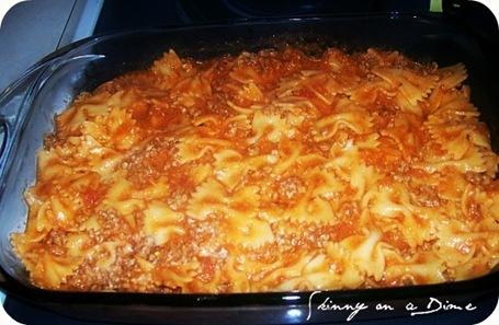 Bow tie lasagna