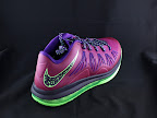 nike lebron 10 low gr purple neon green 5 02 Release Reminder: NIKE LEBRON X LOW Raspberry (579765 601)