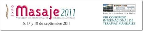 ExpoMasaje: VIII Congreso Internacional de Terapias Manuales en Madrid. Septiembre 2011.