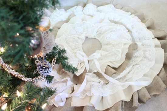 burlap lace tree skirt