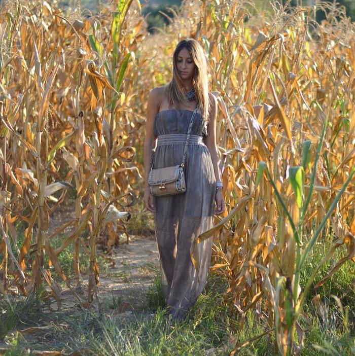 Maxi Dress, Outfit long dress, Fashion Blogger Dress, Phyton Bag, Dolce  & Gabbana Bag, Cianti, Tuscany, Primark, Studded Gladiators, Italian Fashion Blogger