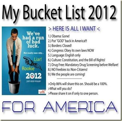 Bucket List 2012