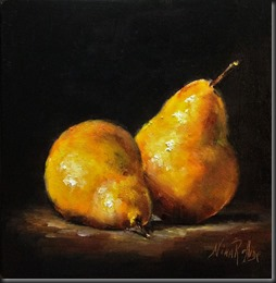 Yellow Pears 7x7
