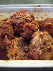 And Betsy Karetnick, my partner on Everyday Food brought in pork meatballs that had been simmered for hours -- a great ending.